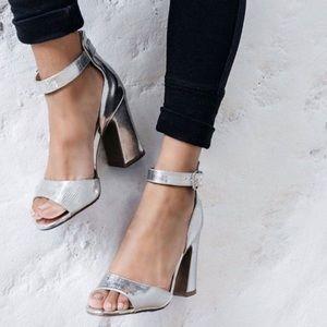 Qupid metallic block heel